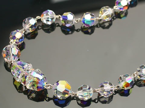 Drum Dazzle: Swarovski crystal necklace