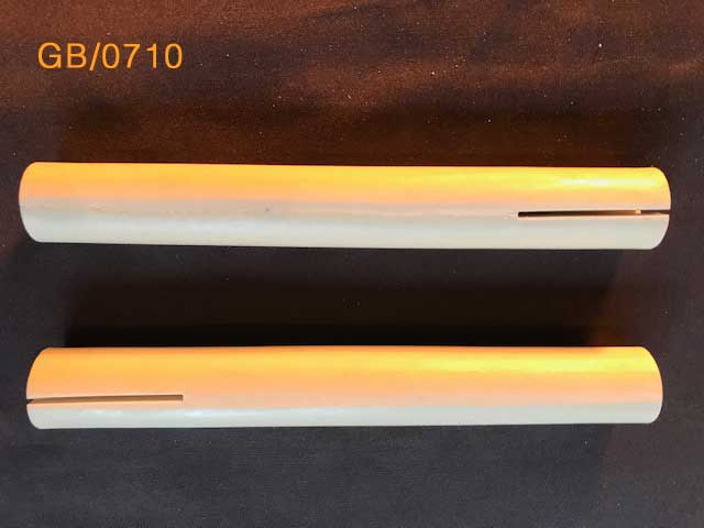 Generic Bones (2) 9mm canal. Two 200mm long x 25mm diameter. With cuts to demo compression screws. GB0710