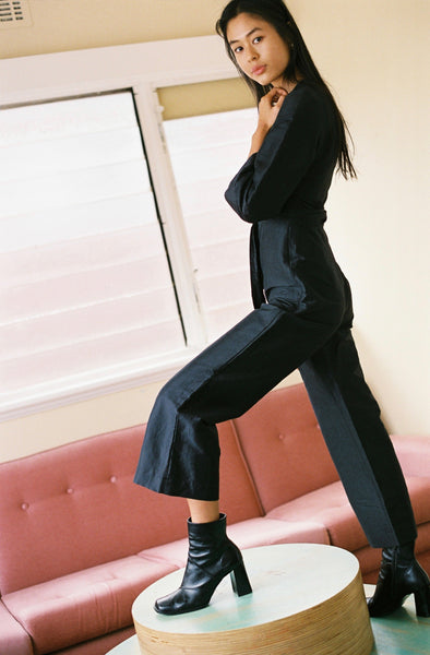 Lewis Wrap Jumpsuit - Black