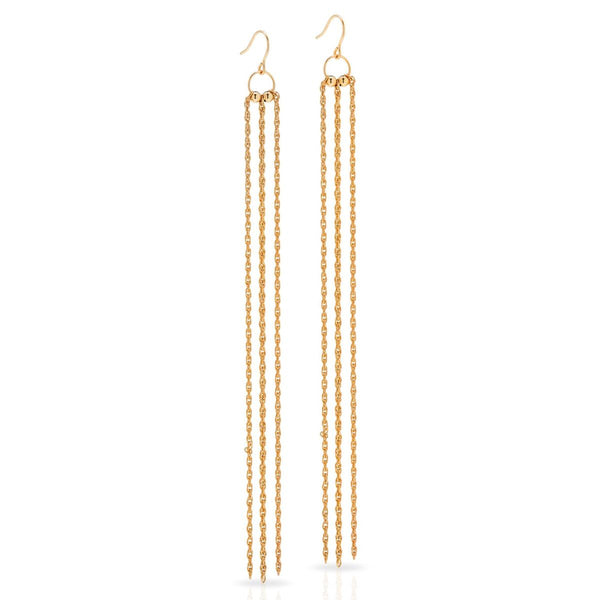 Petite Grand Long Chain Earrings