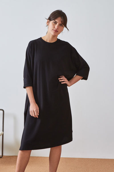 Kowtow Building Block Oversized Boxy Dress - Black