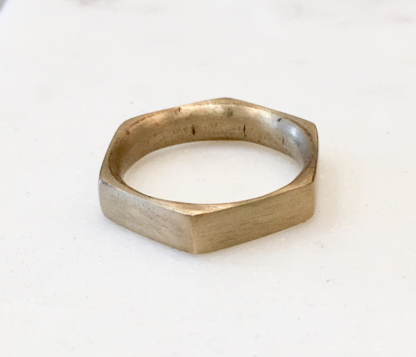 HEX Ring - Bronze