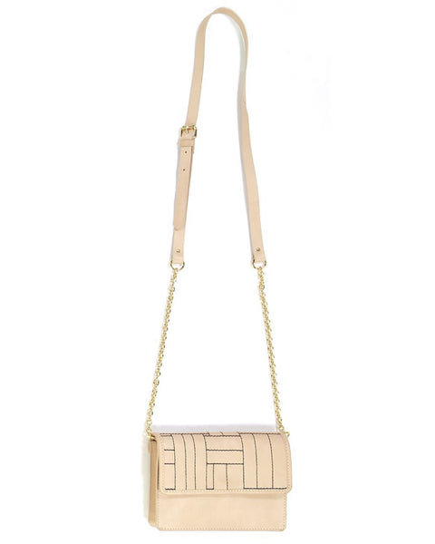 Mapoesie Eve Cross Body Bag - Natural