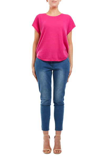 Cashmere Sleeveless Top - Hot Pink