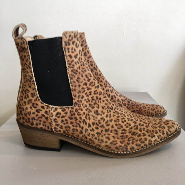 Stella Suede Ankle Boot - Leopard