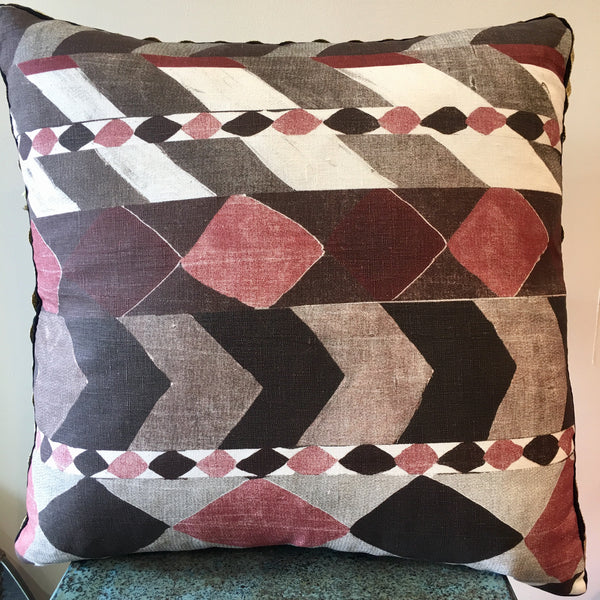 Liquorice Print Cushion - Rust