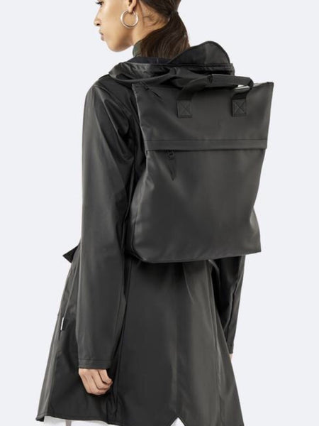 RAINS - Tote Backpack - Black