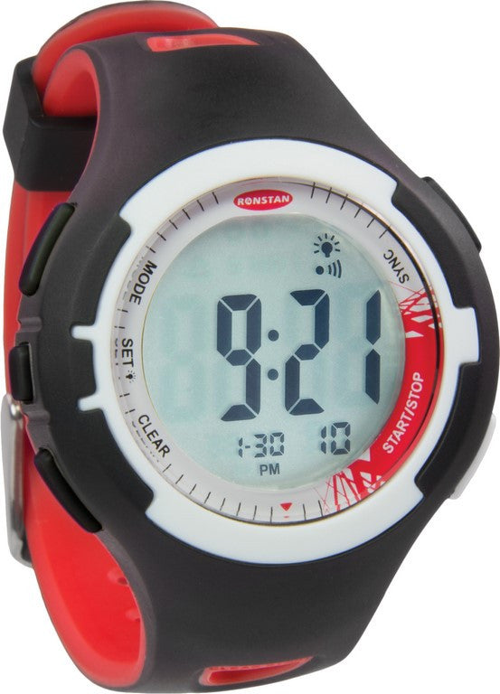Clear Start™ zeilhorloge 40 mm zwart rood