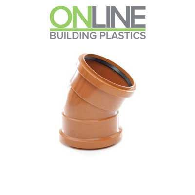 110mm Underground drainage 45 degree double socket bend