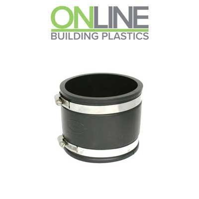 110mm plastic to 110mm rubber underground drainage adaptor