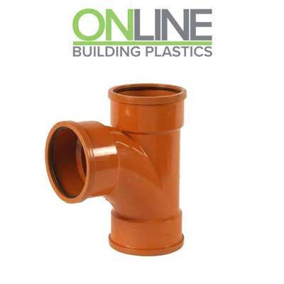 110mm underground drainage 90 degree double socket branch