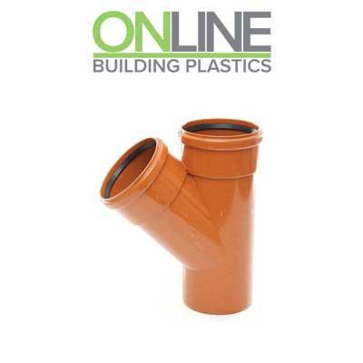 110mm underground drainage double socket 45 degree branch