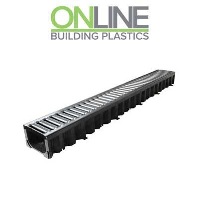 1m Galvanised Storm drain drive way channel