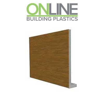 250mm golden oak Cover fascia board