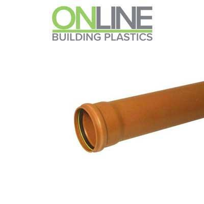 Underground drainage 3m single socket pipe 110mm