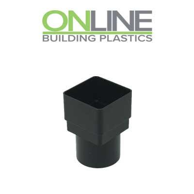 Black square to round Downpipe Adapter