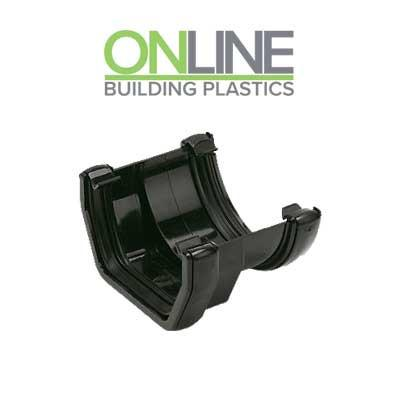Black square to round gutter adapter