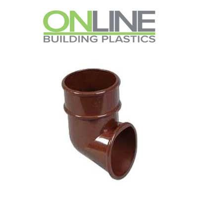 Brown Half Round Downpipe Shoe