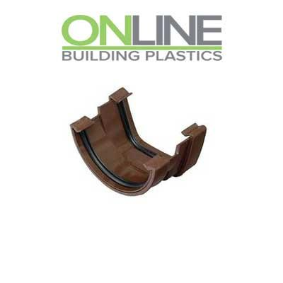Brown Half Round Square to Round Gutter Adapter