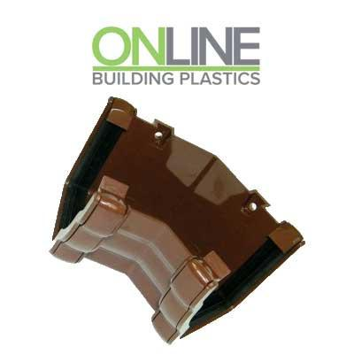 Brown Ogee 135 degree external gutter corner