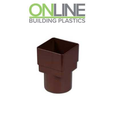 Brown Square to Round Downpipe Adapter