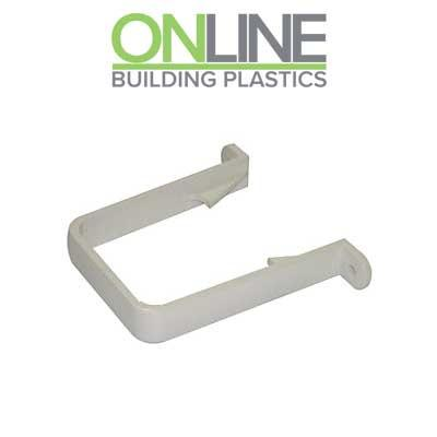 White Square Downpipe Bracket