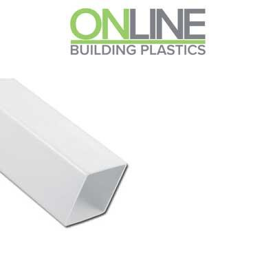 White Square downpipe 5.5m