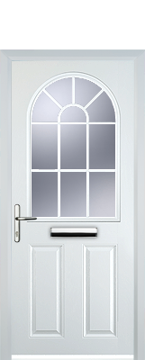 white georgian composite door nuneaton