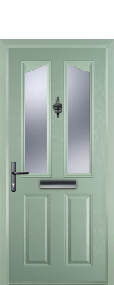 light green composite door