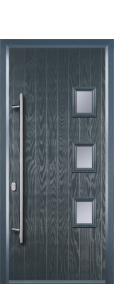 grey composite door with squares