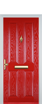 red 6 panel composite door