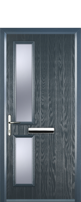 grey contemporary composite door
