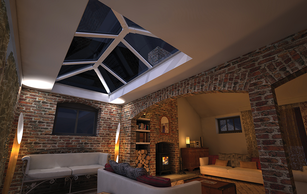 Grey Roof Lantern thurgaton nottinghamshire