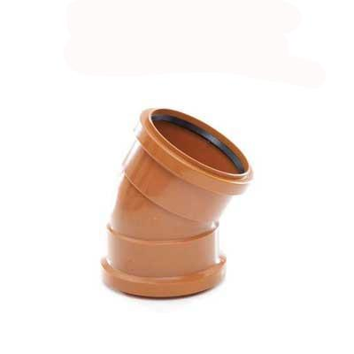 110mm Underground drainage 30 degree double socket bend plastic. Sewer pipe bend 4inch
