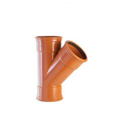 110mm underground drainage 45 degree triple socket branch sewer
