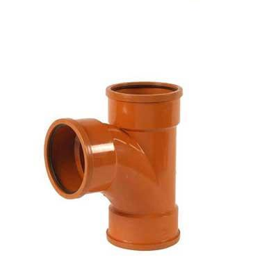 110mm underground drainage 90 degree triple socket branch sewer