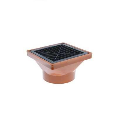 110mm underground drainage hopper head with grid plastic gully top