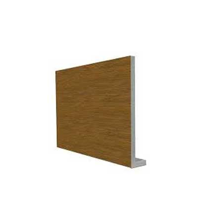 Cover fascia board white UPVC 9mm thick 5m length golden oak