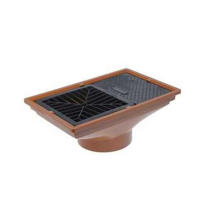 110mm underground drainage rectangular hopper head with grid