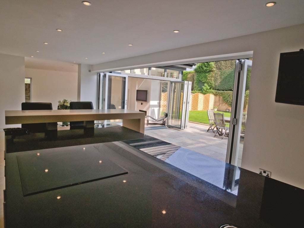 Aluminium Bifolds White Interior Grey Exterior