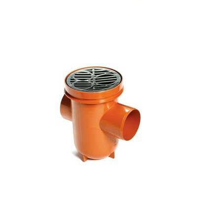 110mm Underground drainage back inlet bottle gully