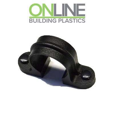 Cast Iron effect gutter down pipe lugged bracket