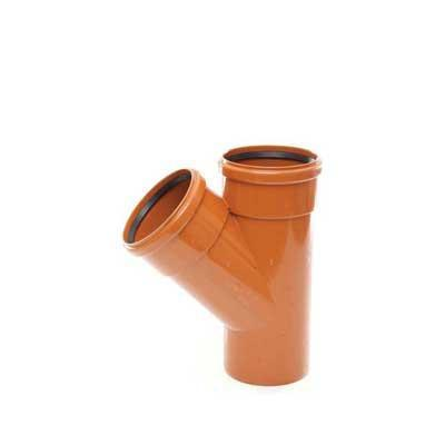 110mm underground drainage double socket 45 degree branch sewer