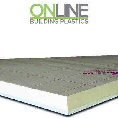Insulated plasterboardlaminated 2400mm x 1200mm