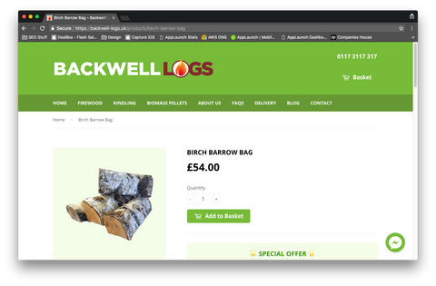 Backwell Logs Product Page
