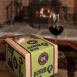 EcoBlaze Firelighters with a glass of wine