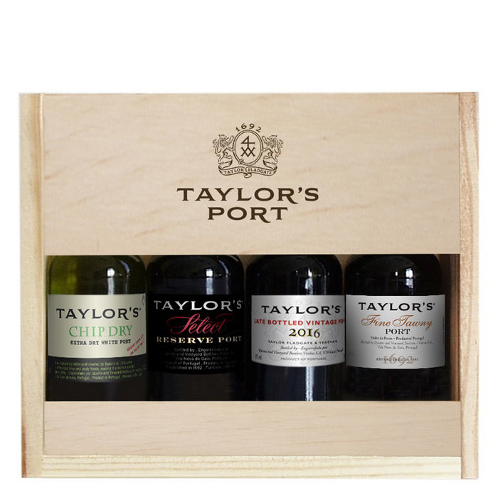 Taylors 4 x 5cl Port Miniature Selection Gift Set (Chip Dry, Select Reserve, Fine Tawny and LBV)