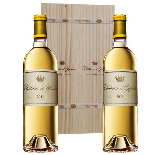 Chateau d'Yquem, 1er Grand Cru Classe, Sauternes, 2011 and 2013, 2x75cl in wooden gift pack
