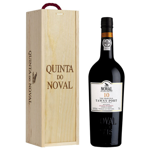 Quinta Do Noval 10 Year Old Tawny Port in Wooden Gift Box 75cl 19.5% ABV