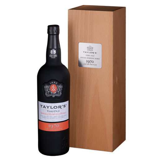 Taylors Very Old Single Harvest Vintage 1970 Port 75cl in Wooden Gift Box